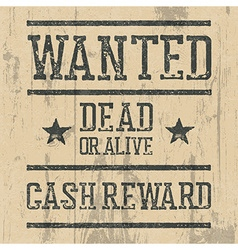 Wanted poster Design template with Wanted sign and vector image