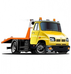 cartoon tow truck vector image vector image