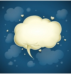 cloud with greeting message vector image vector image