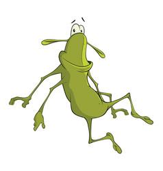 green cockroach cartoon character vector image