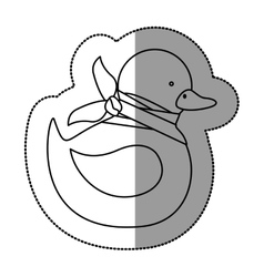 Isolated toy duck damaged design vector image vector image