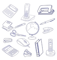 Sketch of business processes vector image