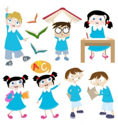 students cartoon vector image
