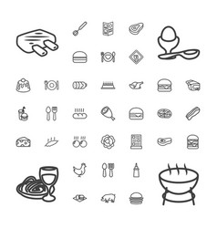 37 meal icons vector