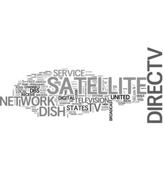 A brief on united states satellite tv deals text vector