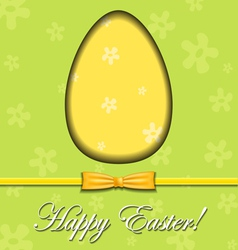 Abstract Easter egg greeting card vector image