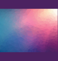abstract geometric pink blue background vector image