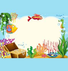 An underwater frame template vector