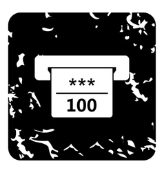 ATM machine icon grunge style vector