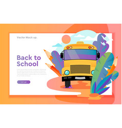 back to school web design template vector image