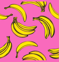 bananas fruit seamless texture wallpaper vector image