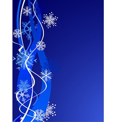 Beautiful snowflakes background vector image