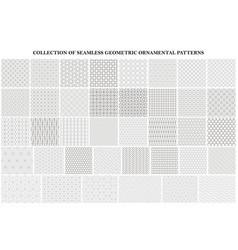 big bundle geometric seamless patterns vector image