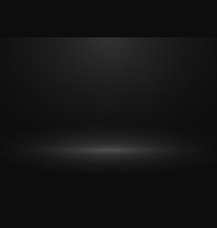 black gradient studio background design of vector image