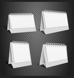 Blank desk paper calendar empty folded envelope vector