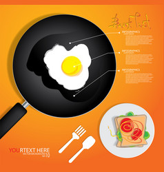 Breakfast omelet vector