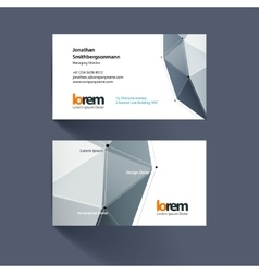 Business card template with triangles and polygons vector
