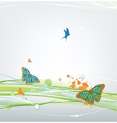 Butterfly on abstract background vector