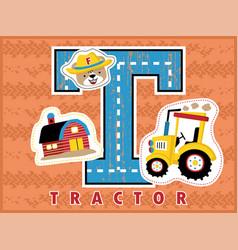 cartoon of farming equipment vector image