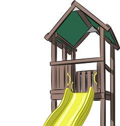 childrens slide vector image