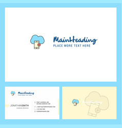 cloud with smart phone logo design with tagline vector image