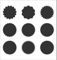 collection sunburst badges circle shapes vector image