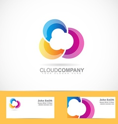 colored cloud design vector image