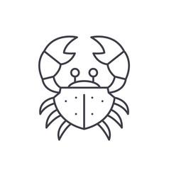 crab line icon concept crab linear vector image