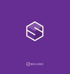 Delivery logo s box monogram vector