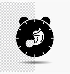 Delivery time baby birth child glyph icon on vector