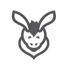 Donkey simple sign vector