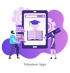 education app concept education app concept vector image
