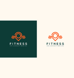 fitness location logo design vector image