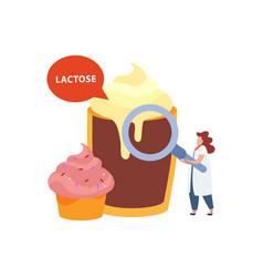 Flat lactose concept vector