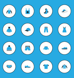 Garment colorful icons set collection of trousers vector