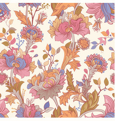 Gentle seamless pattern with large decorative vector