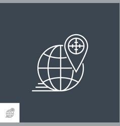 geo targeting line icon vector image