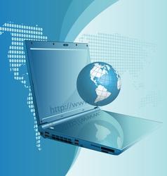 globe computer vector image