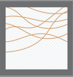 Golden or bronze color round chain realistic vector