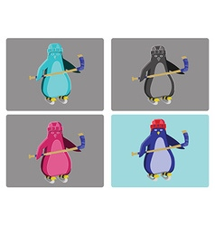 Hockey Penguins Emblem vector image