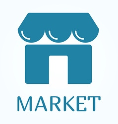 Icon or sign of marketplace in flat style vector