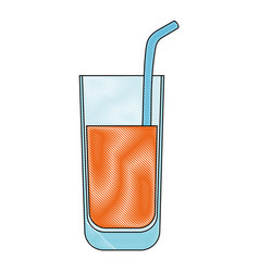 Isolated juice glass vector