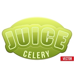 Label for celery juice Bright premium design vector
