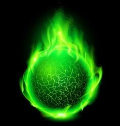 Lava ball green vector