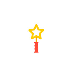 magic wand icon flat element vector image
