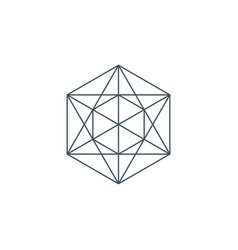 Metatrons cube vector