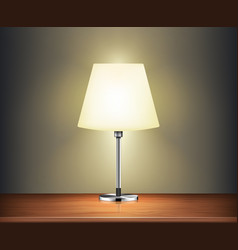 Modern desk lamp illuminate on wall vector