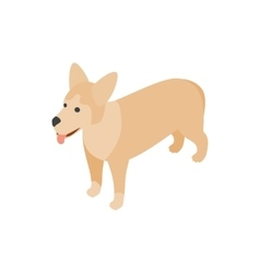 Mongrel dog icon isometric 3d style vector image