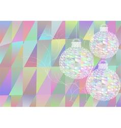 multicolor christmas balls vector image