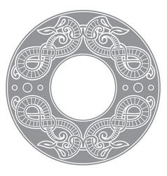 Old norse design dragons in ancient scandinavian vector